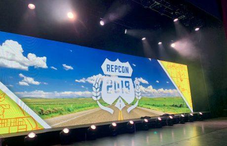 Repcon 2018 event led wall