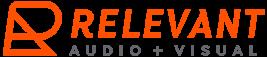Relevant Audio + Visual Logo