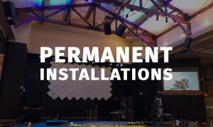 We provide permanent audio video installations ranging from av equipment to led walls