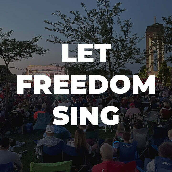 Let Freedom Sing 2021 Relevant Audio + Visual Outdoor Stage Lighting L-Acoustics Sound Setup 1
